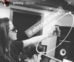 Anitta no estúdio com o DJ Alesso