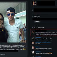Neymar Jr. e Bruna Mrquezine desembarcam na Espanha e esperam voo para Ibiza