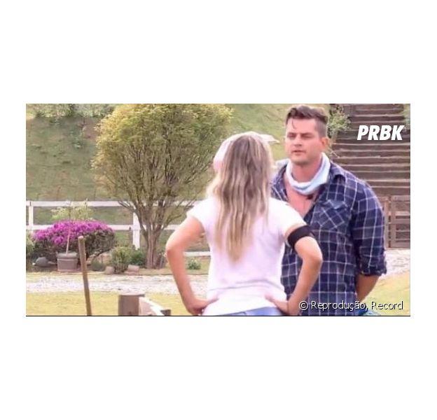 """De """"A Fazenda"""": Ana Paula cita Emilly durante discussão com Marcos"""