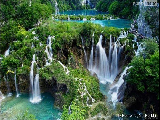 Parque Nacional dos Lagos de Plitvice, na Croácia
