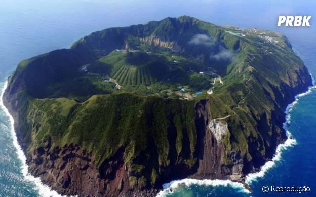 A Ilha Vulcânica de Aogashima, no Japão
