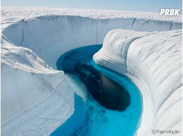 O grande Canyo de Gelo da Groenlândia