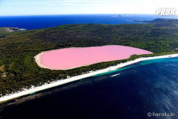 O lago cor de rosa!