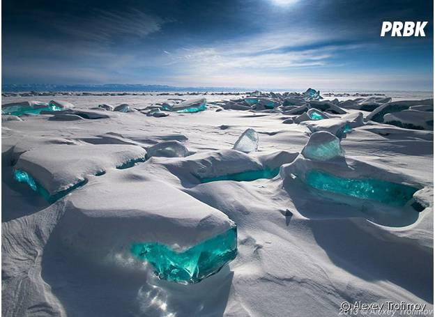 Lago congelado da Sibéria