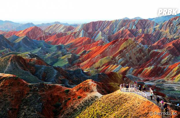 Parque colorido na China!