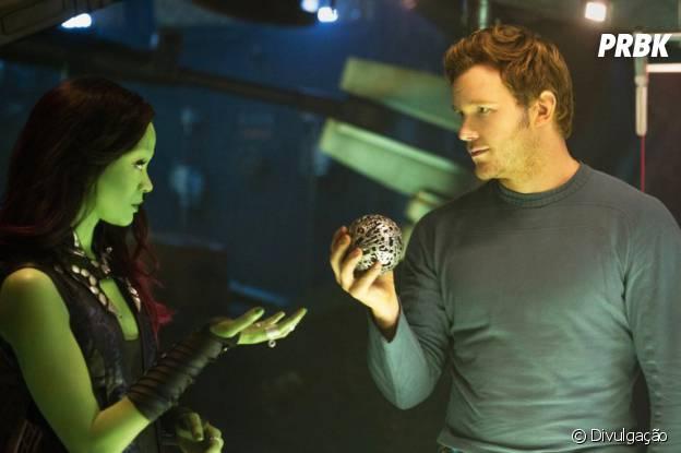"""Zoë Saldana e Chris Pratt estão no elenco de """"Guardiões da Galáxia"""""""