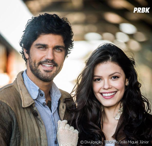 """Novela """"Tempo de Amar"""": Inácio (Bruno Cabrerizo) e Maria Vitória (Vitória Strada) se reencontram!"""