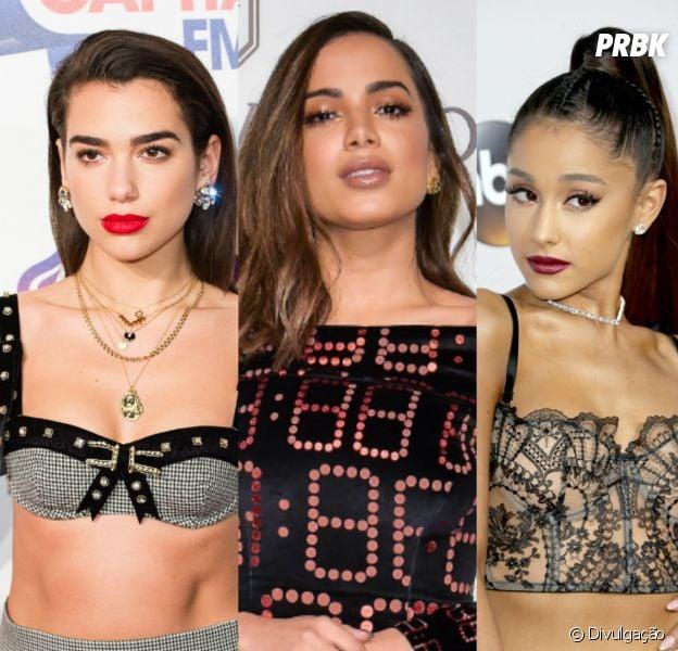Looks de Anitta, Dua Lipa, Ariana Grande e mais podem ser usados como fantasia de Carnaval