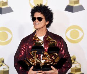 Bruno Mars é o maior vencedor do Grammy 2018, com seis prêmios!