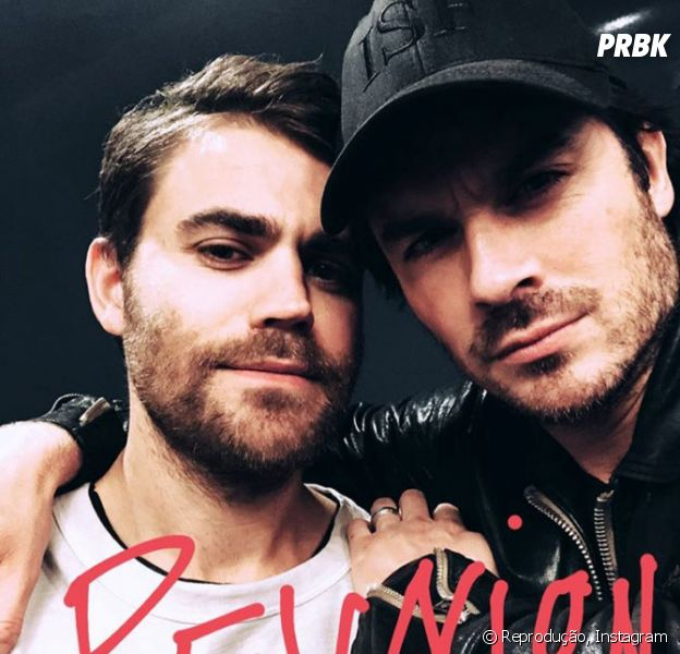 "Paul Wesley e Ian Somerhalder, de ""The Vampire Diaries"", se reencontram!"