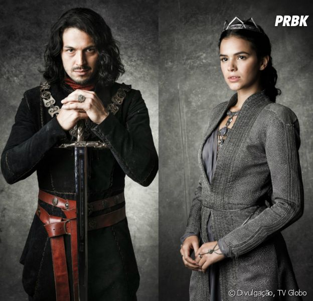 """Em """"Deus Salve o Rei"""": depois de resgatar Catarina (Bruna Marquezine), Afonso (Romulo Estrela) vira o líder das tropas de Artena"""