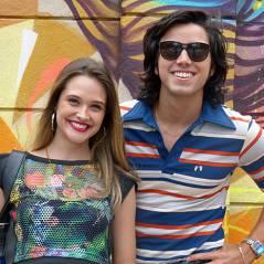 """Rodrigo Simas visita Juliana Paiva nos bastidores de """"Malhação"""": """"Minha mulher!"""""""