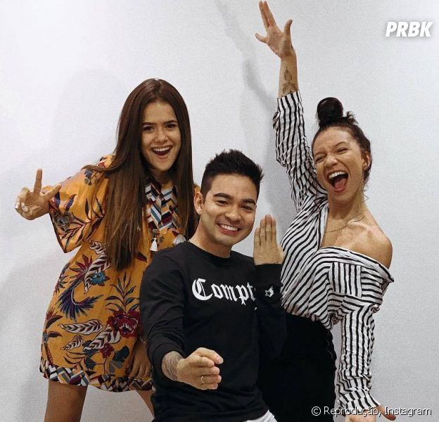 Maisa Silva, Yudi Tamashiro e Priscilla Alcantara se reencontram e fãs piram!