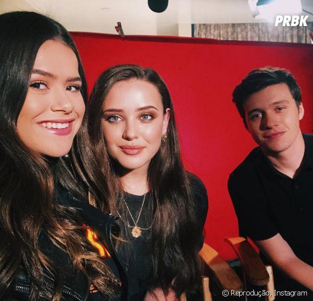 """Maisa Silva anuncia entrevista com Katherine Langford e Nick Robinson, de """"Love, Simon"""""""