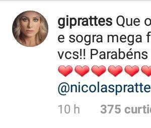 Mãe de Nicolas Prattes confirma namoro do filho com a dançarina Mayara Araújo