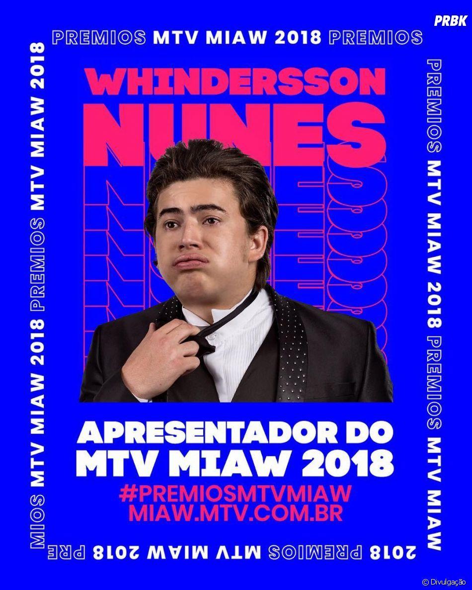 Whindersson Nunes será o apresentador da premiação MTV Miaw 2018