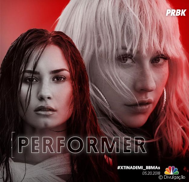 "Billboard Music Awards 2018: Demi Lovato e Christina Aguilera farão performance da música ""Fall In Line"" na premiação"