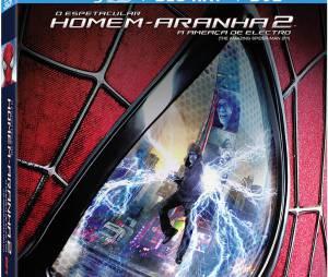 """Capa do dvd e blu-ray de """"O Espetacular Homem-Aranha 2: A Ameaça de Electro"""""""