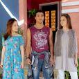 """Em """"Aventuras de Poliana"""", Raquel (Isabella Moreira) e Mirela (Larissa Manoela) brigam feio por causa de Guilherme (Lawrran Couto)"""