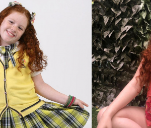 """Veja o antes e depois de Victória Diniz, a Bibi de """"Carrossel"""""""