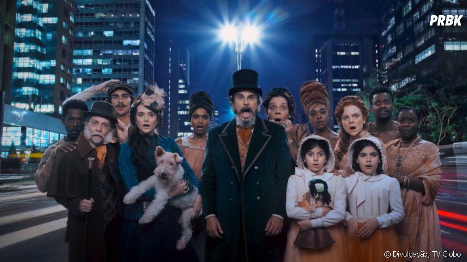 """A novela """"O Tempo Não Para"""" mostrará uma família congelada em 1886 que acorda 132 anos depois, em São Paulo, precisando se adaptar ao mundo atual"""