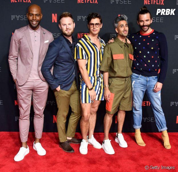 """De """"Queer Eye"""", conheça os FabFive: Bobby Berk, Tan France, Karamo Brown, Jonathan Van Ness, e Antoni Porowski"""