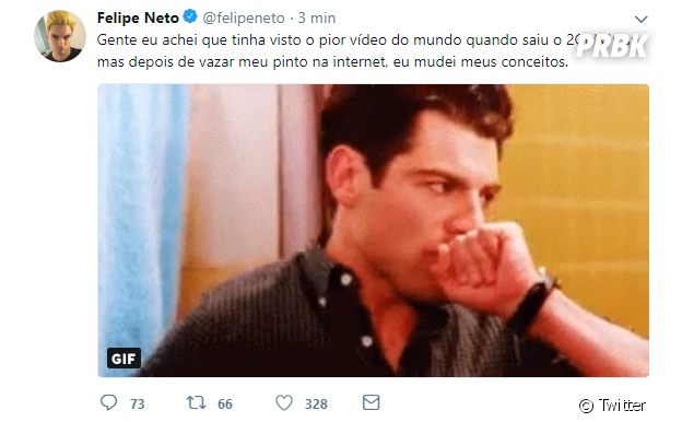 Felipe Neto fala sobre seu vídeo íntimo vazado na web