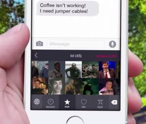 """Converse por gifs pelo aplicativo """"Popkey"""" no iOS 8"""