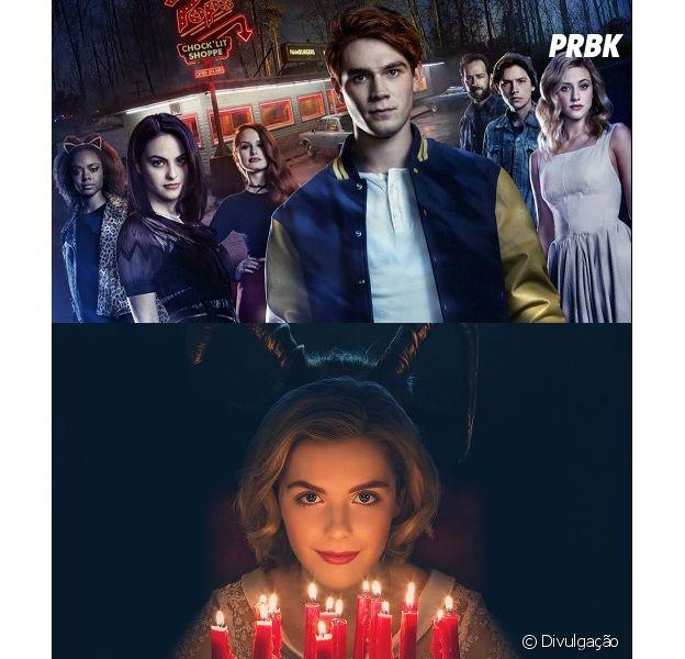 """Crossover entre """"Riverdale"""" e """"O Mundo Sombrio de Sabrina"""" não deve rolar, dizem atores KJ Apa e Lili Heinhart"""