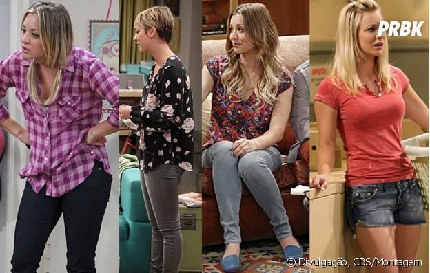 """A Penny (Kaley Cuoco) adora usar um jeans quando tá em casa em """"The Big Bang Theory"""""""