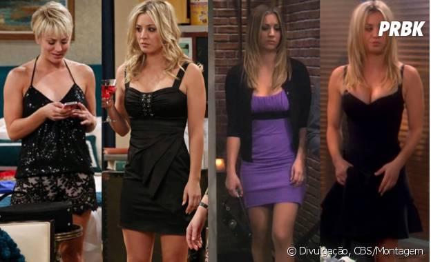 """Quando sai pra noite em """"The Big Bang Theory"""", Penny (Kaley Cuoco) gosta de vestidos justinhos"""