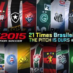 """É oficial: """"PES 2015"""" terá times brasileiros e deixa """"FIFA 15"""" chupando dedo"""