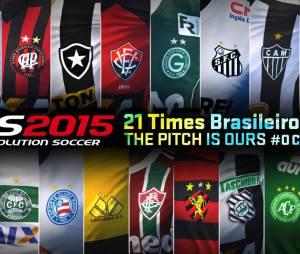 """""""Pes 2015"""" vai trazer as equipes e craques do Campeonato Brasileiro para o jogo"""