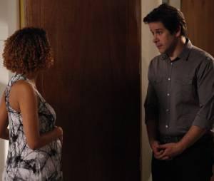 """Jonas (Murilo Benício) procura Verônica (Taís Araújo) e confronta a jornalista sobre a paternidade de seus filhos, em """"Geração Brasil"""""""