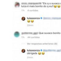 Parece que o sovaco da Luisa Sonza vem chamando atenção dos seguidores