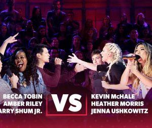 """Elenco de """"Glee"""" se enfrenta em uma batalha de rimas durante programa de TV"""