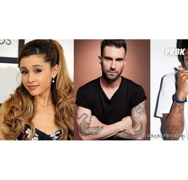 Ariana Grande, Adam Levine e Pharrel Williams serão atrações do especial de natal do Grammy