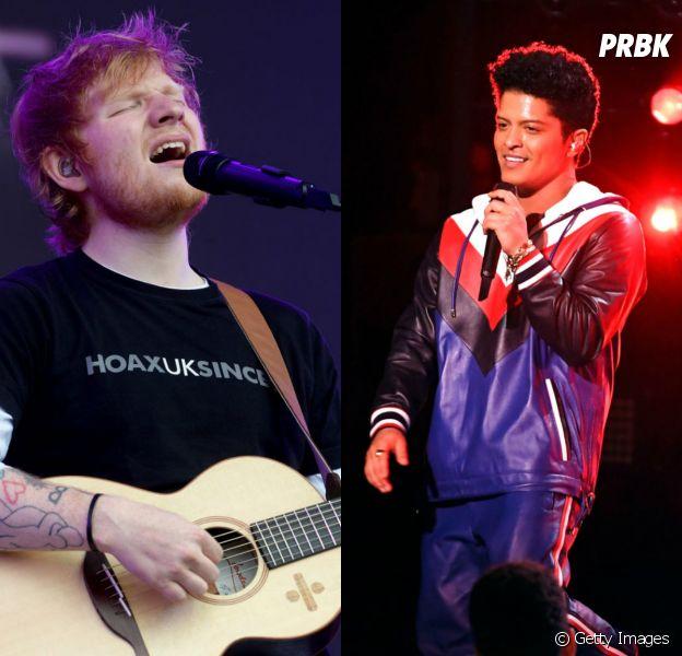 Ed Sheeran e Bruno Mars: parceria é confimada