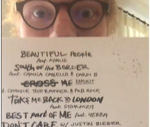 Ed Sheeran mostrou todas as parcerias que estarão no seu novo álbum