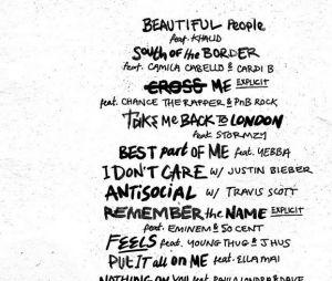 """O novo álbum de Ed Sheeran, """"No. 6 Collaborations Project"""", tem data de lançamento para 12 de julho"""