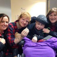 Ed Sheeran se casa (de mentirinha) com fã com câncer cerebral #Fofo
