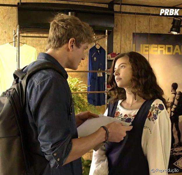 """""""Malhação"""": Rita (Alanis Guillen) admite que gosta de Filipe (Pedro Novaes) em """"Toda Forma de Amar"""""""