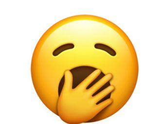 """As empresas anunciaram também o emoji com sono, """"bocejando"""""""