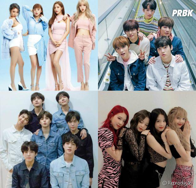 Veja se você consegue descobrir quais são estes grupos de K-Pop por um pedaço da foto