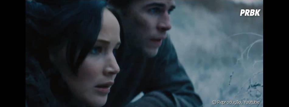 """Katniss e Gale conversam sobre a fuga do Distrito 12 em""""Jogos Vorazes: Em Chamas"""""""