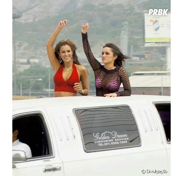 """Dulce Maria e Ninel Conde, que interpretavam Roberta e Alma em """"Rebelde"""", se reencontram!"""