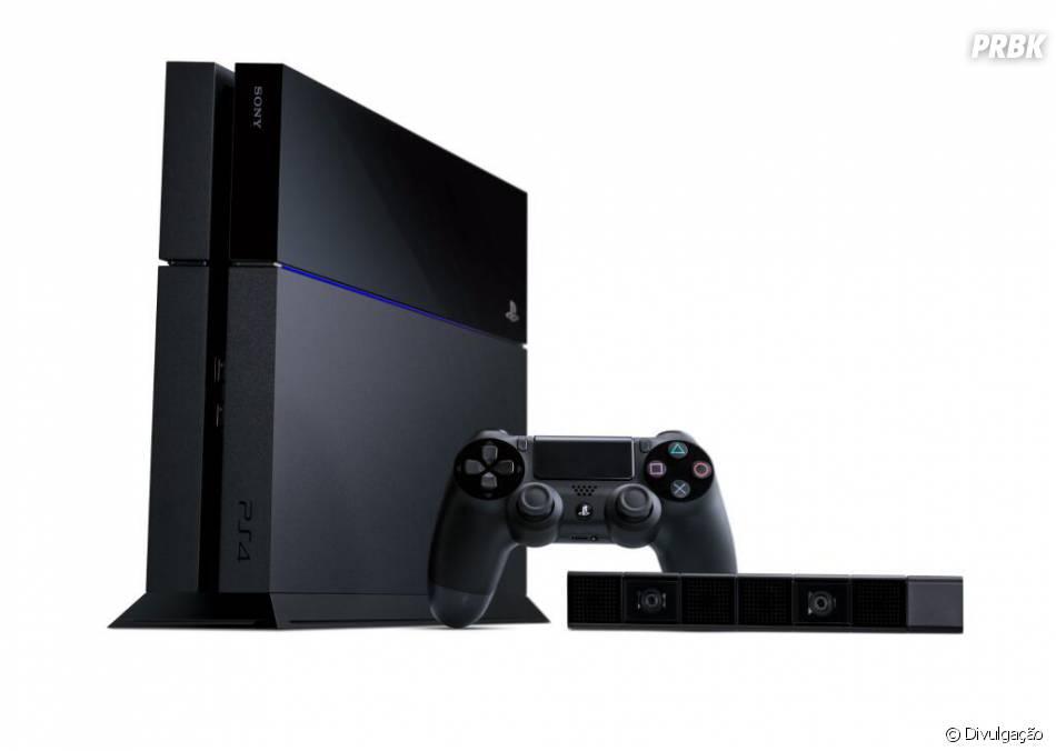 Já o PS4 aparece em pé em suas imagens de divulgação