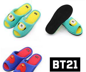 Presentes que todo fã do BTS merece ganhar: chinelos da BT21