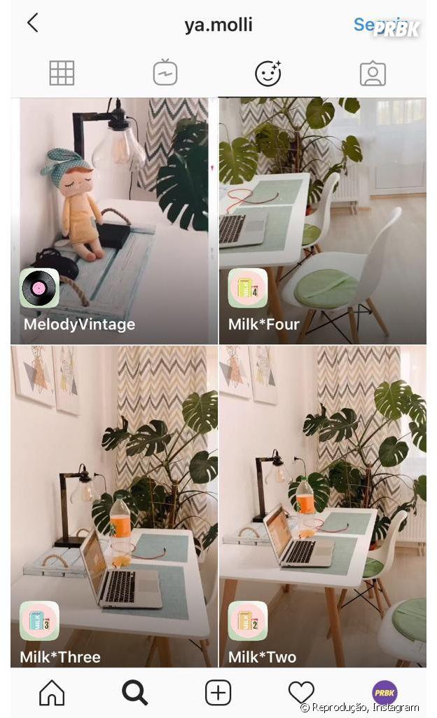 Instagram: @ya.molli e mais perfis que você deve seguir para encontrar novos filtros