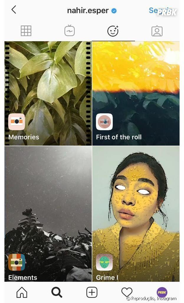 Instagram: @nahir.esper e mais perfis que você deve seguir para encontrar novos filtros